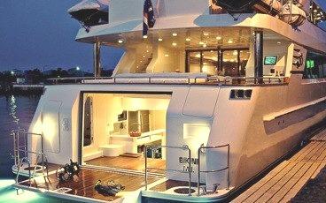 Luxury Super Yacht at Night