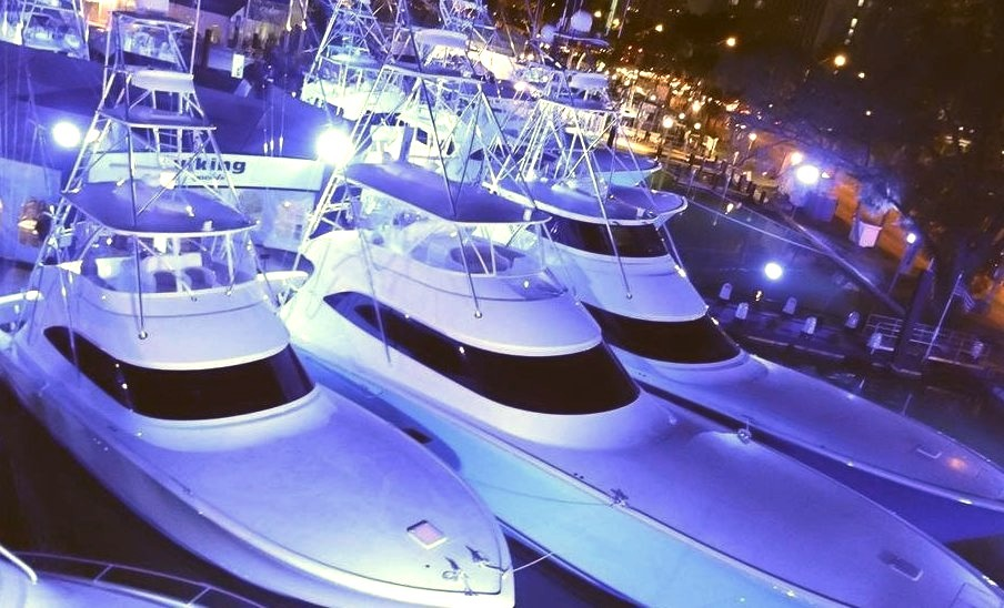 Yachts Lined up